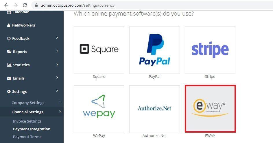 eWay icon Financial settings