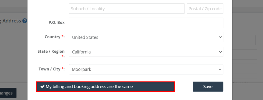 Save the customer address same as the billing address as an admin from the add/edit customer info popup